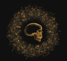 Gold Skull Wreath by Noel Richards