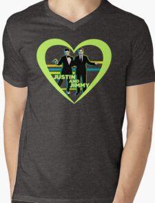 Justin and Jimmy Mens V-Neck T-Shirt