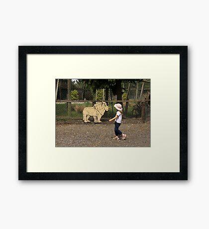 Sneak Past Framed Print