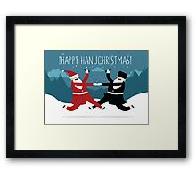 Hanuchristmas (with BG) Framed Print