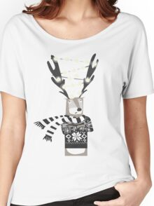 Christmas Bright Reindeer  Women's Relaxed Fit T-Shirt