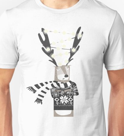 Christmas Bright Reindeer  Unisex T-Shirt