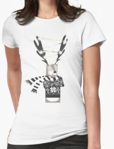 Christmas Bright Reindeer  Womens Fitted T-Shirt