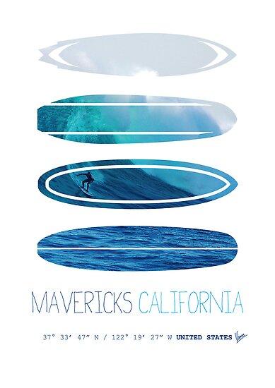 My Surfspots poster-2-Mavericks-California by Chungkong