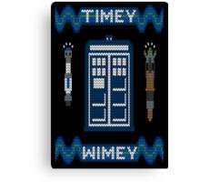 Timey-Wimey Xmas Canvas Print