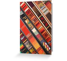 Colorful Belts Greeting Card