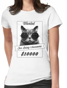 Wanted for Awesome Womens Fitted T-Shirt
