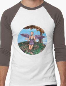 Autumn Angel Men's Baseball ¾ T-Shirt