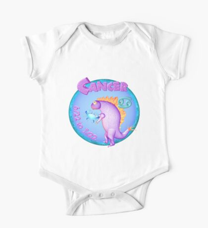 Cancer astrology little monster by valxart.com One Piece - Short Sleeve