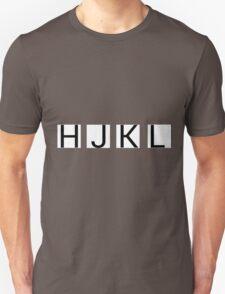 HJKL (No Arrows + No Text Transparency) Unisex T-Shirt