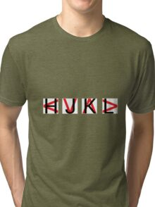 HJKL (Red Arrows + No Text Transparency) Tri-blend T-Shirt