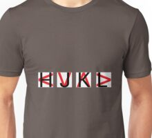 HJKL (Red Arrows + No Text Transparency) Unisex T-Shirt