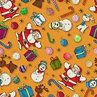 Seamless Christmas pattern design by Richard Laschon