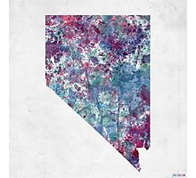 nevada map cold colors Photographic Print