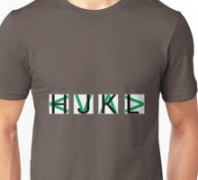 HJKL (Green Arrows + No Text Transparency) Unisex T-Shirt
