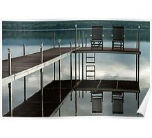 Dock on the Ottawa river Poster