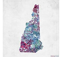 new hampshire map cold colors Photographic Print