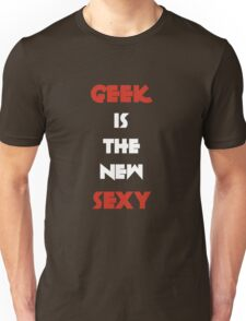 Geek is the New Sexy - White&Red Unisex T-Shirt