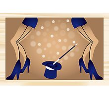 Cabaret - poster with beautiful legs of girls Photographic Print