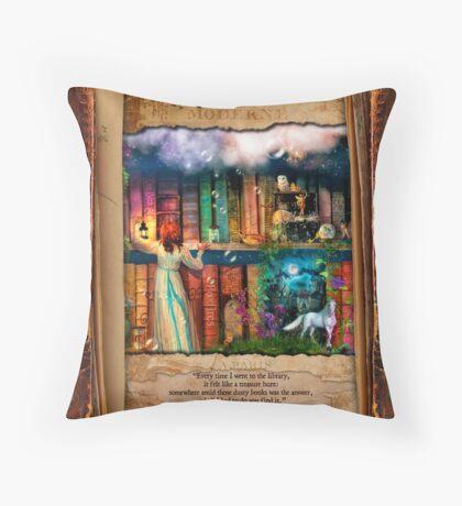 The Curious Library Calendar - June Throw Pillow