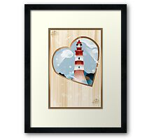 memories - souvenirs (poster with lighthouse) Framed Print