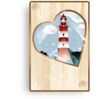 memories - souvenirs (poster with lighthouse) Canvas Print