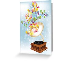 Creative music player poster Greeting Card