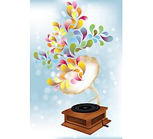 Creative music player poster Photographic Print