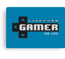 Gamer For Life! Canvas Print