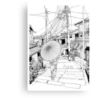 Kyoto - the old city Canvas Print