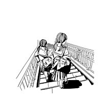 Japanese School Girls Photographic Print