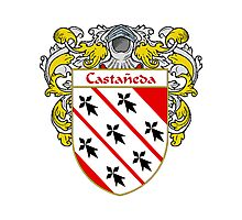 Castaneda Coat of Arms/Family Crest Photographic Print