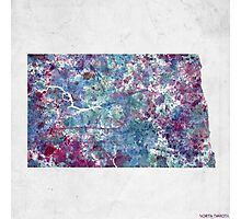 north dakota map cold colors Photographic Print