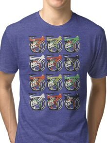 Folded Brompton Bicycle Tri-blend T-Shirt