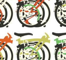 Folded Brompton Bicycle Sticker