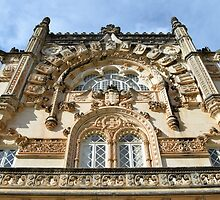 Neo-Manueline window, Buçaco by juliedawnfox