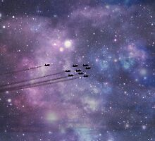 Red Arrows in space by AuraTodd
