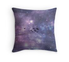 Red Arrows in space Throw Pillow