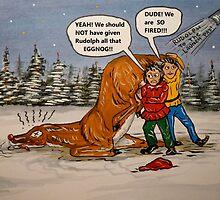 Drunk Rudolph by WildestArt