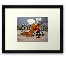 Drunk Rudolph Framed Print