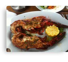 Delicious Lobster Canvas Print