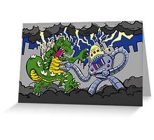 Battle of Monstrosity Greeting Card