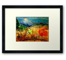 At the Edge of Dreaming Fields Framed Print