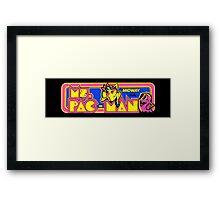 Miss Pac-Man Arcade Framed Print