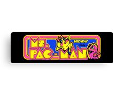 Miss Pac-Man Arcade Canvas Print