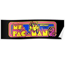 Miss Pac-Man Arcade Poster