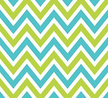 Chevrons, Zigzag Background Blue, Green by roughcollie5