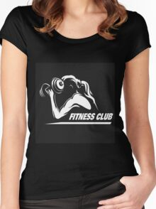 Fitness Emblem Women's Fitted Scoop T-Shirt