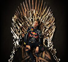 Vettel Sits the Iron Throne by Tetura