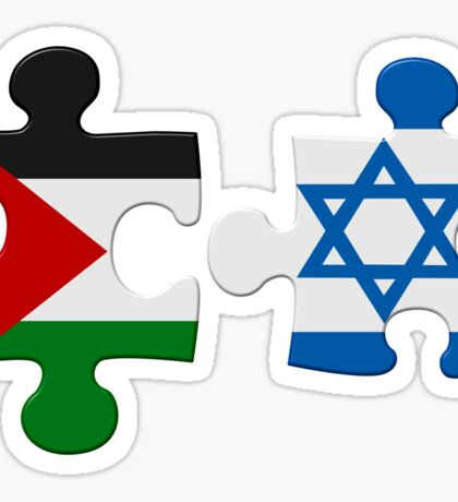 Israel and Palestine Conflict Flag Puzzle Sticker